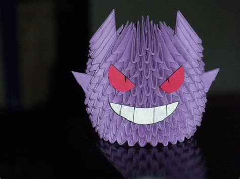 origami gengar by paporigami on deviantart