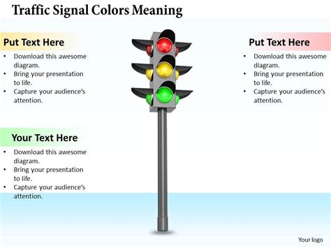And Light Meaning by 0514 Traffic Signal Colors Meaning Image Graphics For Powerpoint Presentation Powerpoint