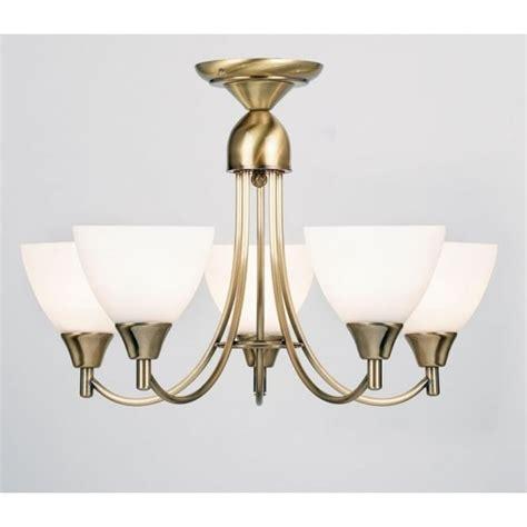 Brass Flush Ceiling Light Deckenle Endon 1805 5an 5 Light Ceiling Light Antique Brass