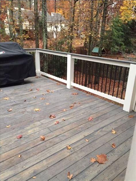 cabot semi solid stain dark slate  wood deck