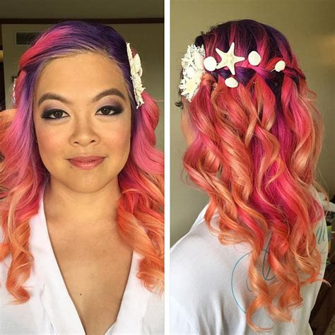 2016 pink hairstyle rainbow hair colors for holidays 2016 hairstyles 2017