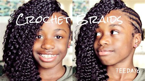 styles for crochet hair for 11 year olds side mohawk crochet braids little girls edition youtube