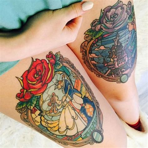 beauty and the beast tattoo designs 50 amazing inspired designs amazing