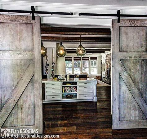 plan 85061ms 4 bed shabby chic house plan barn doors