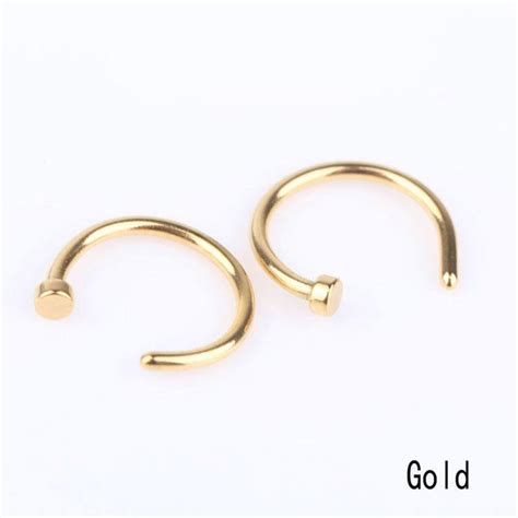 unique stainless steel nose open hoop ring earring