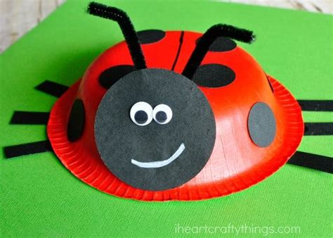 Paper Ladybug Craft - diy arts and crafts projects for diy projects craft