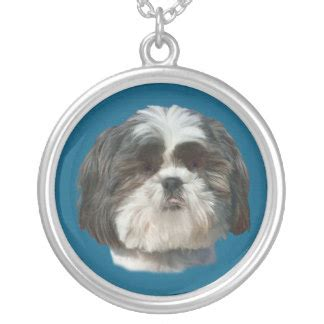 shih tzu silver shih tzu silver plated necklaces shih tzu silver plated pendants