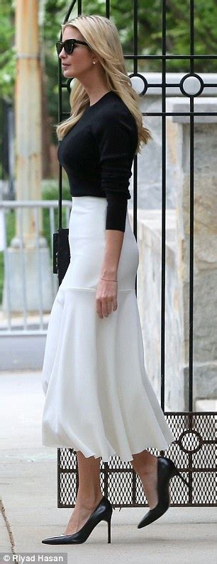 Set Flowy White 3in1 ivanka cuts a classic figure as she heads out to work daily mail