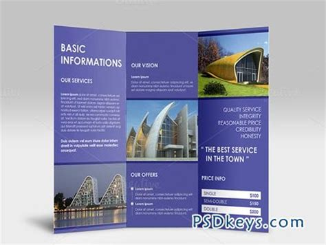 simple clean tri fold brochure 43494 187 free download
