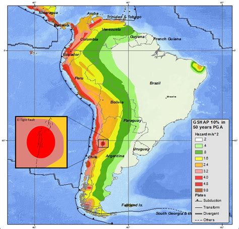 america earthquake zone map hazard map