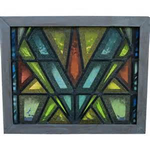 cool mid century modern stained glass window from neatcurios on ruby lane