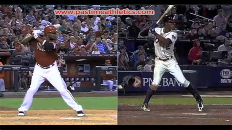 baseball vs softball swing justin upton vs bj upton slow motion home run baseball
