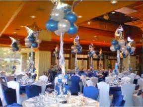 birthday centerpiece ideas for adults blue and white graduation decorations decoratons in blue