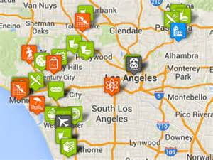 louisiana points of interest map los angeles family attractions hotels restaurants and pictures