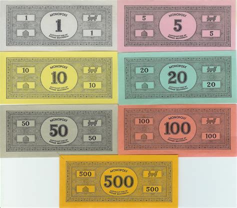monopoly money templates best photos of printable monopoly money template