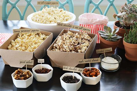 popcorn bar toppings a healthy long weekend diy popcorn bar