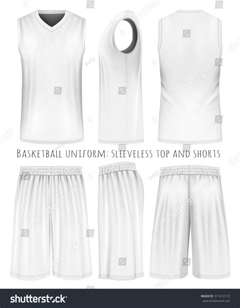 basketball jersey layout front and back basketball uniform sleeveless top shorts front stock