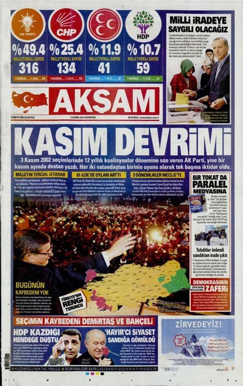 zgr gndem gazetesi 19 kasm 2 kasım gazete şetleri 1 kasım se 231 imleri gazete