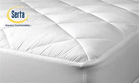 serta sleeper coolest comfort mattress pad groupon