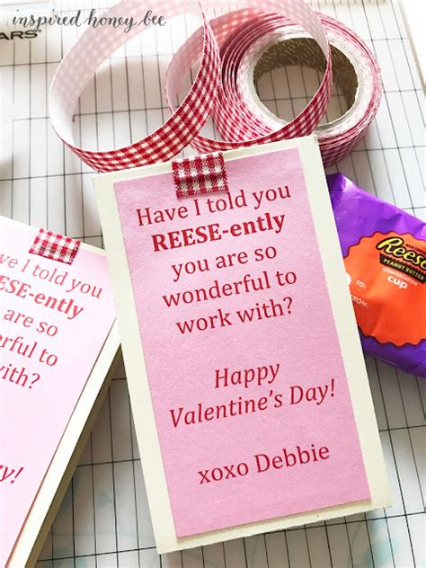 s day ideas for coworkers inspired honey bee craft sweet valentines treats for