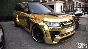 gold range rover hamann mystere in