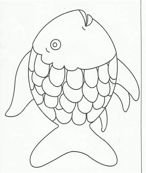 rainbow coloring page kindergarten rainbow fish preschool templates bubbles pinterest