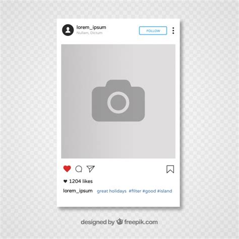 Instagram Template Design Vector Free Download Editable Instagram Template
