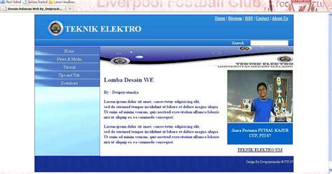 desain layout css kang wi desain halaman web sederhana menggunakan css