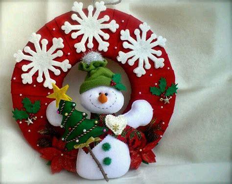 imagenes navideñas en fieltro 6 modelos de coronas navide 241 as de fieltro 1 navidad