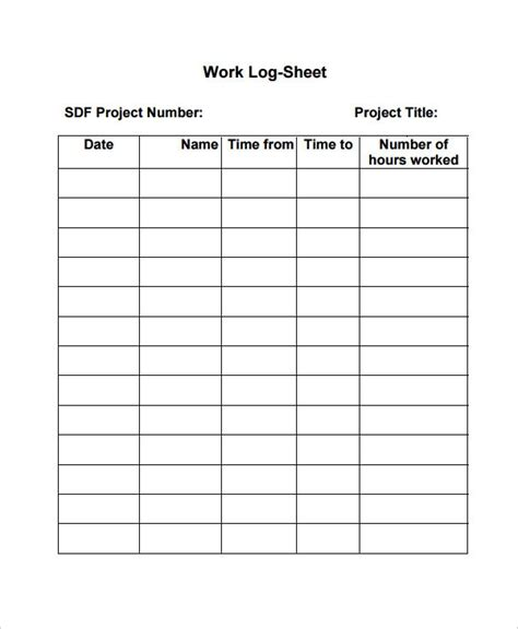 work log template 7 free word excel pdf documents download free premium templates
