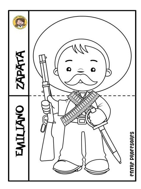 imagenes para colorear de la revolucion mexicana para niños personajes de la revoluci 243 n m 233 xicana por entre profesores