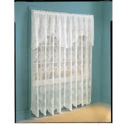 Curtains With Attached Valance Lace Curtain Panel With Attached Valance Set Of 2