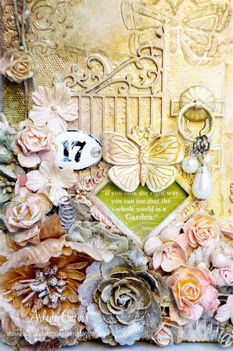 graphic 45 secret garden mixed media altered matchbook butterfly kisses paper pretties graphic 45 design team