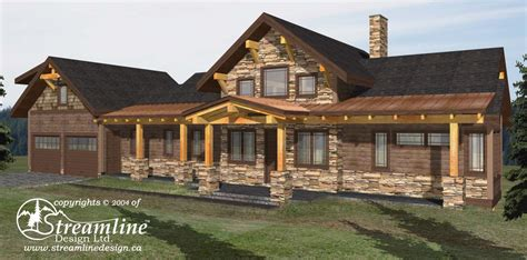 6 new log home and timber frame floor plans streamline