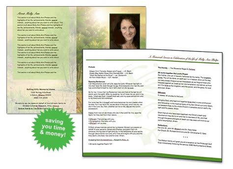 free funeral program template program template colors