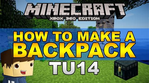 how to make a backpack minecraft xbox 360 one ps3 ps4