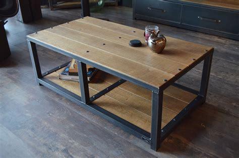 Table Basse Palette Industrielle by Table Basse En Bois Et Metal Industrielle Style