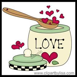 Country Kitchen Canister Set by Baking Clipart Spoonsful Of Love