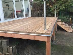 terrassen aus holz die besten 17 ideen zu erh 246 hte terrasse auf