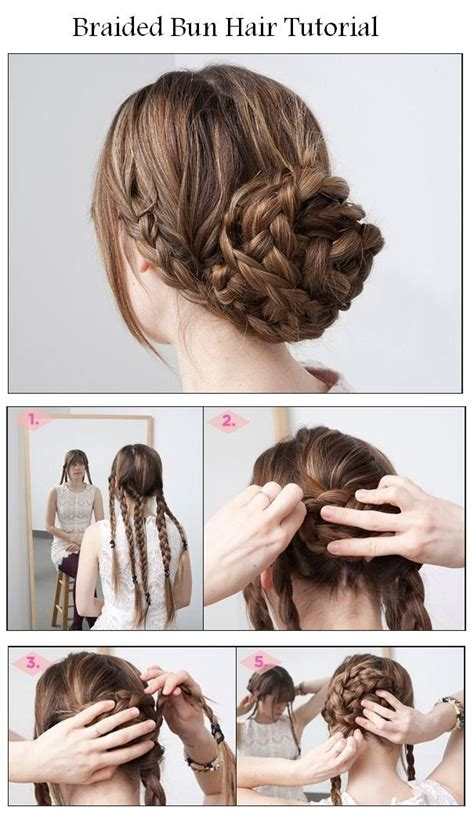 Braided Hairstyles For Hair Tutorials by Hairstyles Tips And Tutorial Make A Braided Bun For Your Hair