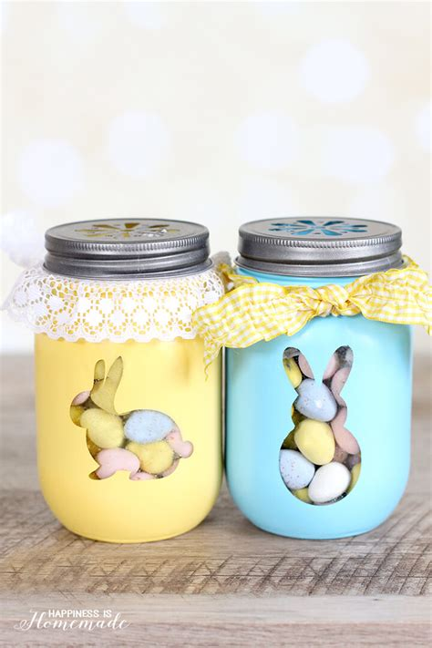 treat jar easter bunny treat jars happiness is