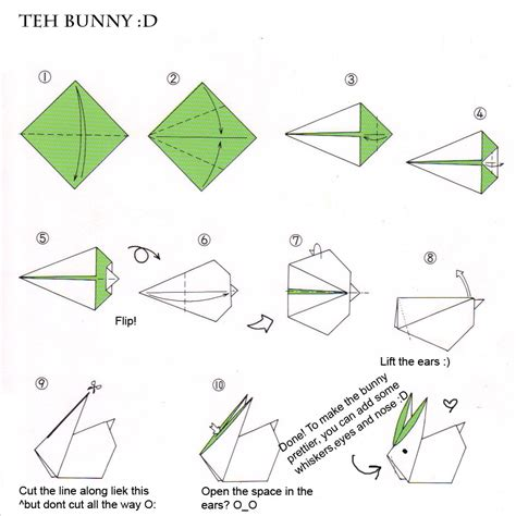 How To Fold An Origami Rabbit - avion en papier avion