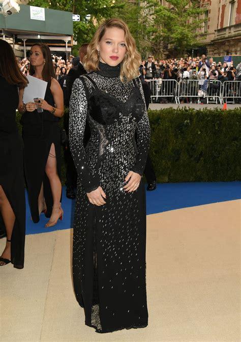 lea seydoux new york lea seydoux at met gala in new york 05 01 2017