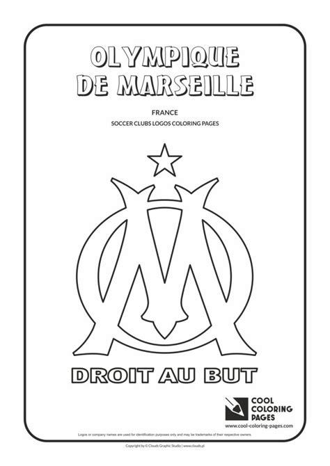 cool coloring pages olympique de marseille logo coloring page cool coloring pages