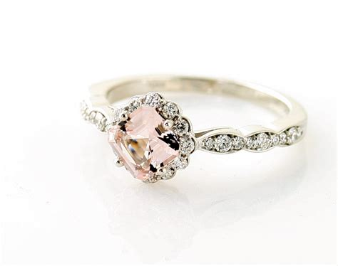 play up your sophisticated side with morganite rings for