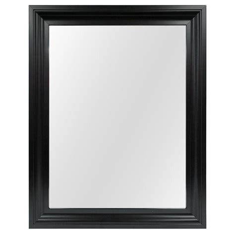 home decorators mirror home decorators collection 22 35 in w x 28 35 in l framed fog free wall mirror in black 81163