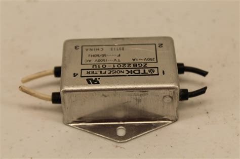 Tdk Noise Filter Zcw 2220 01 tdk zgb2201 01u noise filter plc surplus supply llc