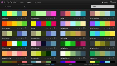 themes colour palette capture your color inspirations with adobe color cc