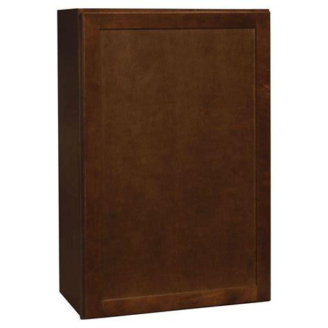 hton bay 24x30x12 in shaker wall cabinet in satin