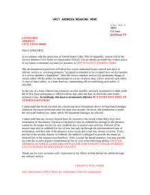 Sle Lease Termination Letter Due To Transfer Sle Lease Template Giving Notice To Landlord Template 100 Images A